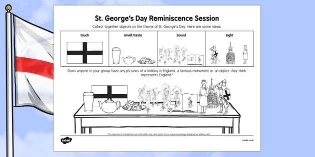 Elderly Care St George's Day Reminiscence Session - Elderly, Reminiscence, Care Homes, St. George's Day