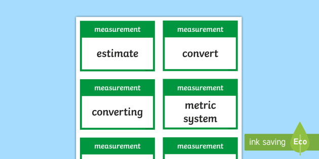 CfE Second Level Numeracy and Mathematics Measurement (Linear) Keyword Flashcards - Wall Display, keywords, MNU 2-11a, MNU 2-11b, MNU 2-11c, language of maths, vocabulary, word wall,Sc