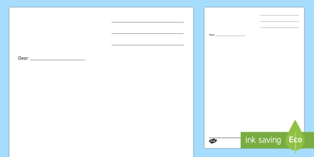 Letter Writing Template - Blank letter templates, letter, letter writing, letters, editable, editable template, foundation stage, Template, letter design, fine motor skills, activity