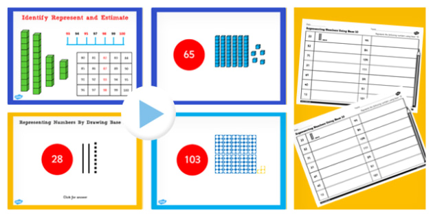 Y2 Maths Represent Numbers Using Base 10 Count Shapes Lesson Pack