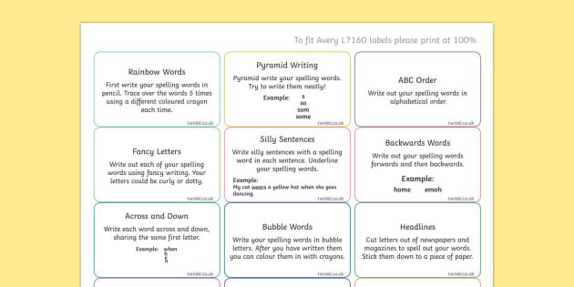 Spelling Challenge Activity Stickers - spelling, spell, challenge, activity, ks1 spelling, ks2 spelling, spelling strategy, spelling strategies, spelling aids, spelling stickers, stickers