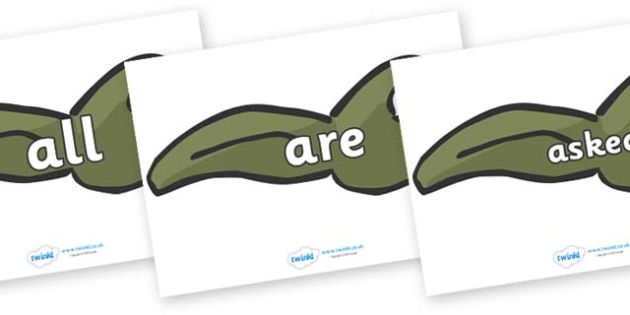 Tricky Words on Tadpoles - Tricky words, DfES Letters and Sounds, Letters and sounds, display, words