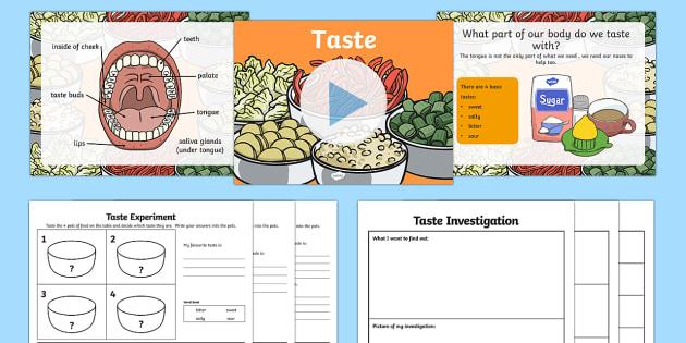 KS1 Science Senses Taste PowerPoint - sense, senses, tasting