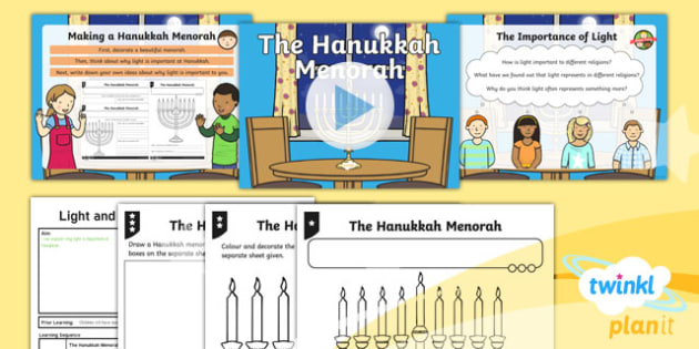 RE: Light and Dark: The Hanukkah Menorah Year 2 Lesson Pack 6