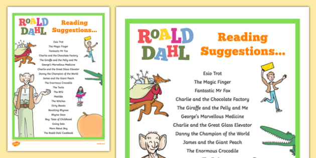 Roald Dahl Reading Suggestions - welsh, Roald Dahl, Reading suggestions, reading for pleasure
