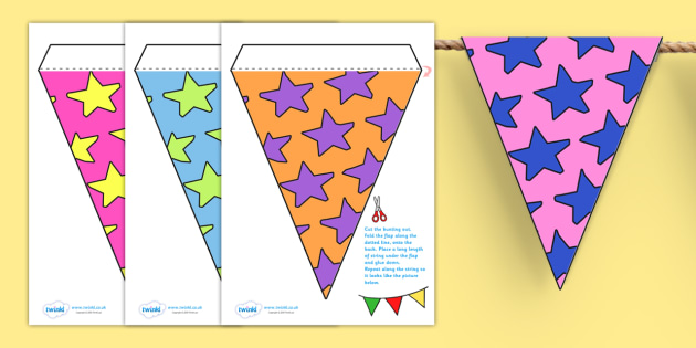 Display Bunting (Stars) - Bunting, display bunting, classroom bunting, decorative bunting, royal wedding, classroom display