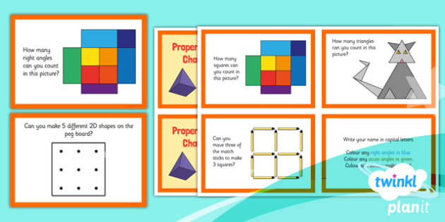 PlanIt Y3 Properties of Shapes Challenge Cards - PlanIt, Properties of Shapes