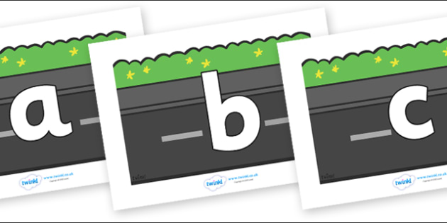 Phoneme Set on Roads (Plain) - Phoneme set, phonemes, phoneme, Letters and Sounds, DfES, display, Phase 1, Phase 2, Phase 3, Phase 5, Foundation, Literacy