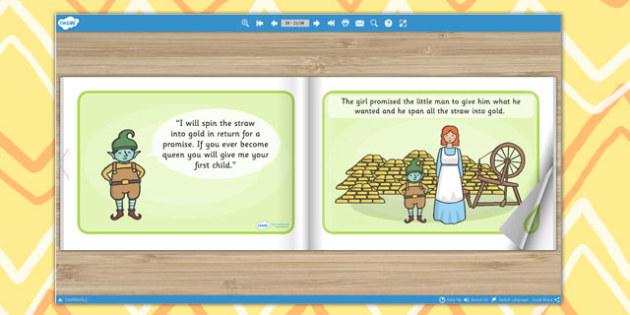 Rumpelstiltskin eBook - book, interactive book, traditional tales
