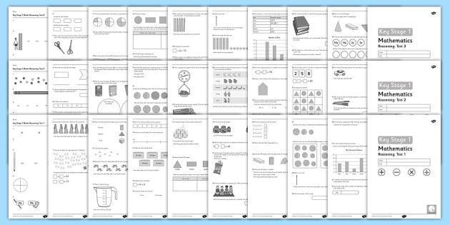 Key Stage 1 Practice Reasoning 1 - 3 Test Pack - Maths, Key Stage 1, reasoning tests, practice
