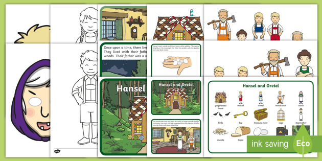 Hansel and Gretel Story Sack - story sack, story books, story book sack, stories, story telling, childrens story books, traditional tales
