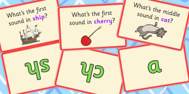 Phoneme Isolation Matching Cards - phoneme, isolation, cards, sounds