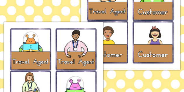 Space Travel Agents Role Play Badges - australia, space, travel
