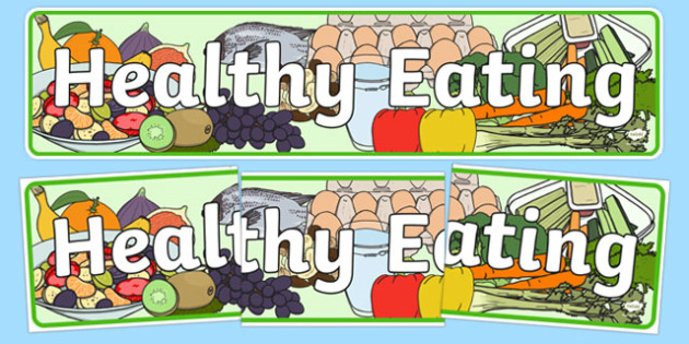 Healthy Eating Display Banner - healthy eating, healthy eating banner, healthy eating display, healthy food, food display, healthy eating display header