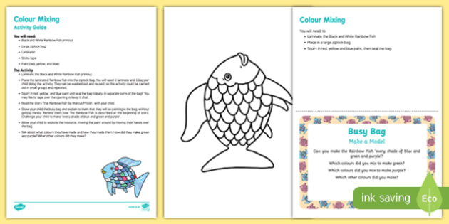 Colour Mixing Busy Bag Resource Pack for Parents