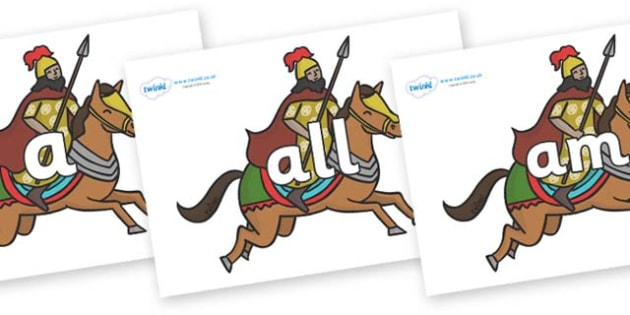 Foundation Stage 2 Keywords on Egyptian Warriors - FS2, CLL, keywords, Communication language and literacy,  Display, Key words, high frequency words, foundation stage literacy, DfES Letters and Sounds, Letters and Sounds, spelling
