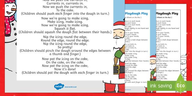 Christmas Cake Playdough Play Song - EYFS, Early Years, Christmas, winter, Playdough Play,Dough Disco, finger gym, fine motor skills, Phy