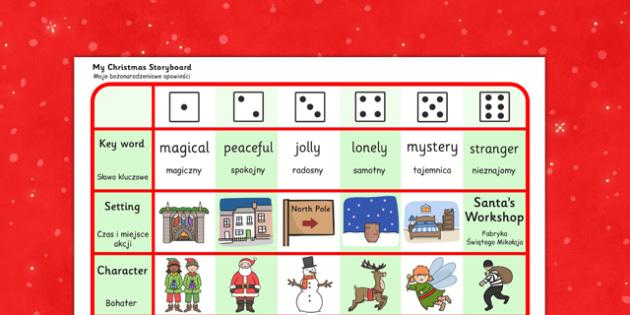 Christmas Story Writing Activity Polish Translation - polish, christmas, story, writing, activity