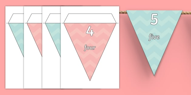 1-100 on Bunting - 1-100, bunting, display, display bunting, numbers
