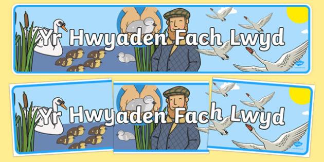 Baner Yr Hwyaden Fach Lwyd Baner Arddangosfa-Welsh