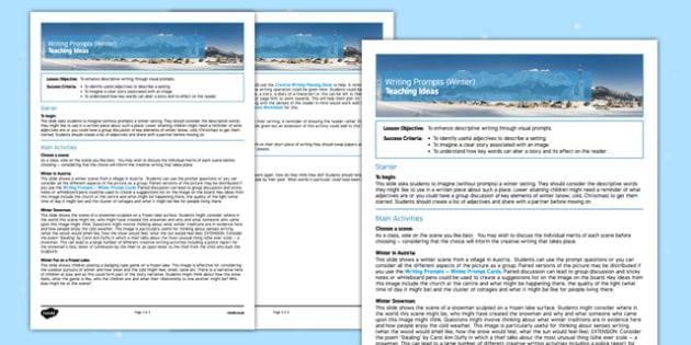 Writing Prompts Winter Teaching Ideas - KS3, KS4, Writing Prompts, Creative Writing, Winter, English, Snowmen, Snow, Christmas