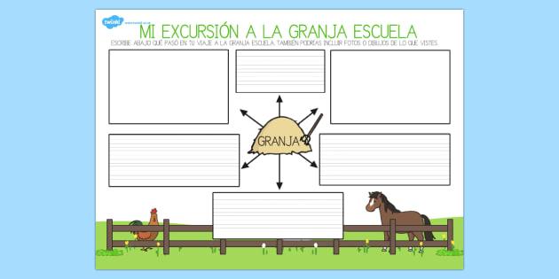 Nuestra excursión a la granja escuela encuentra el animal-Spanish
