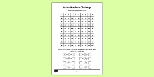 Prime Numbers Challenge - CfE, second level, prime numbers, factors, multiples
