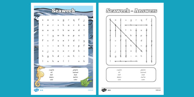 Under the Sea Word search