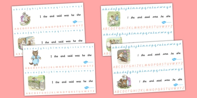 Beatrix Potter - The Tale of Tom Kitten Alphabet Strips - beatrix potter, tom kitten