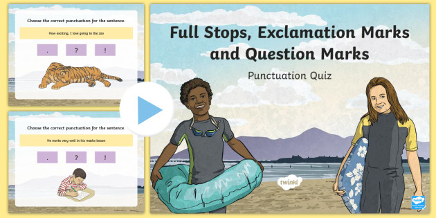 Using a Full Stop to Punctuate a Sentence SPaG PowerPoint