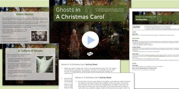 A Christmas Carol Lesson Pack 3: Ghosts - Stave One - ghosts, a christmas carol, lesson, pack