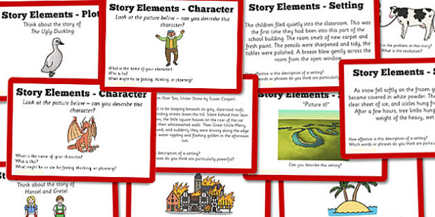 Guided Reading Skills Task Cards Story Elements - guided, reading