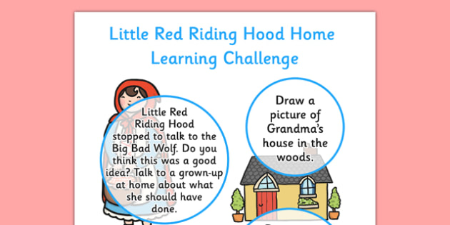 Little Red Riding Hood Home Learning Challenges Nursery FS1 - little red riding hood, eyfs, challenge
