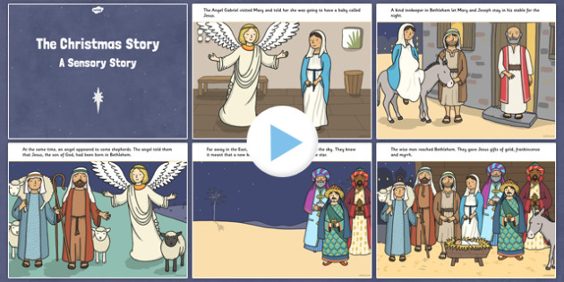 The Nativity Sensory Story PowerPoint - the nativity, sensory story, story, sensory, christmas, nativity, powerpoint