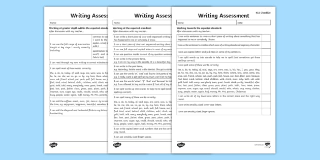 Child-Friendly End of KS1 Expectations Writing Checklists - writing, write, literacy, english, child, friendly, children, example, governement, guidleines, 2016, national, assess, self-assess