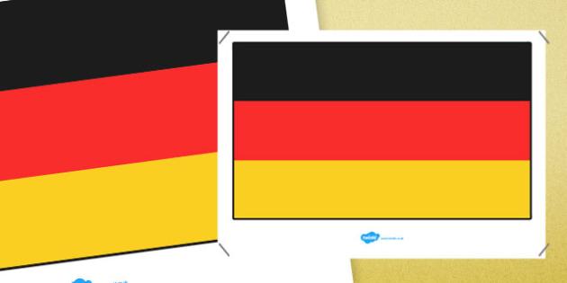 Germany Flag Display Poster - germany flag, germany, display poster, flag, display