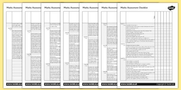 Maths Assessment Group Checklist-maths, maths assessment, assessment, group checklist, assessment checklist, checklist, group assessment, numeracy