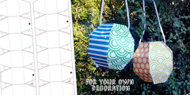 Chinese New Year Blank Paper Lantern Craft Activity - australia