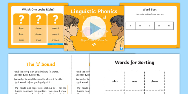 Northern Ireland Linguistic Phonics Stage 5 and 6 Phase 3b, 'z' Sound PowerPoint  - Linguistic Phonics, Stage 5, Stage 6 Phase 3b, Northern Ireland, 'z' sound, sound search, word s