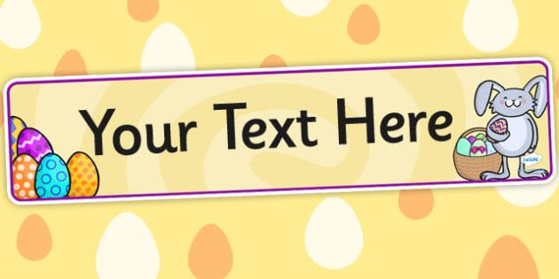 Easter Themed Editable Banner For Publisher - easter, banner