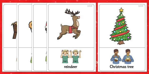 British Sign Language Christmas Sign Posters - sign, christmas