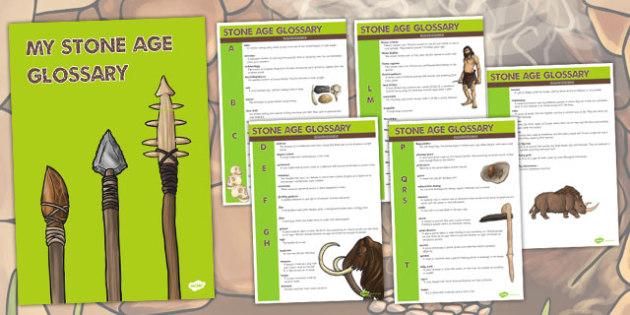 The Stone Age Glossary - stone age, glossary, words, explanation