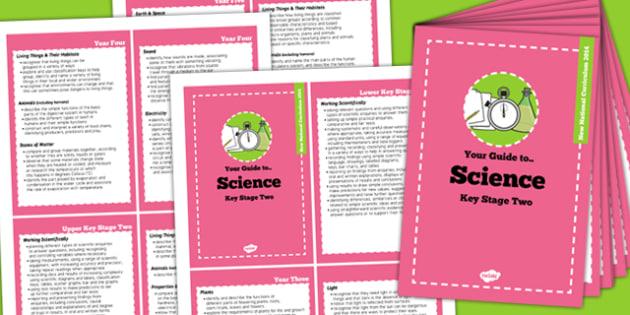2014 Curriculum Cards KS2 Science - new curriculum, planning