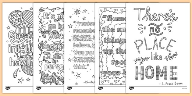 Adult Colouring Mindfulness Quotes Colouring Sheets - mindfulness, quotes, colouring, sheets