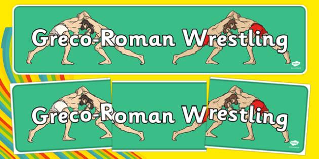 Rio 2016 Olympics Greco Roman Wrestling Display Banner - greco, roman, wrestling, display banner, display, banner
