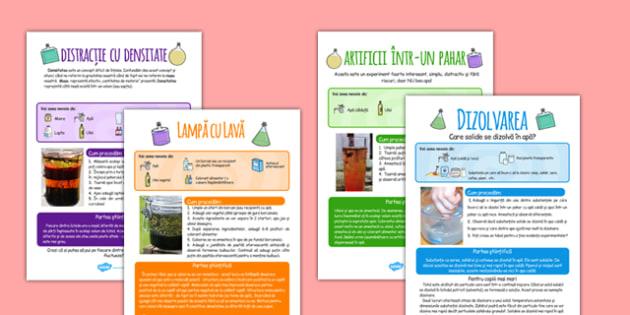 Experimente acasa - dizolvare, densitate, solubil, insolubil