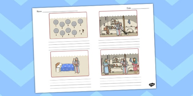 The Lost Coin Storyboard Template - the lost coin, storyboard