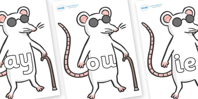 Phase 5 Phonemes on Blind Mice - Phonemes, phoneme, Phase 5, Phase five, Foundation, Literacy, Letters and Sounds, DfES, display