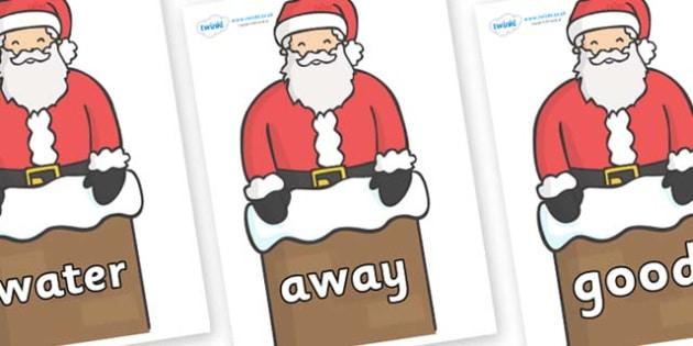 Next 200 Common Words on Santa (Chimney) - Next 200 Common Words on  - DfES Letters and Sounds, Letters and Sounds, Letters and sounds words, Common words, 200 common words