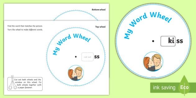 Phonics Digraph Word Wheel ss - word wheel, ss word wheel, ss words, ss word aids, phonics word wheel, phonics words ss, my word wheel, letters and sounds